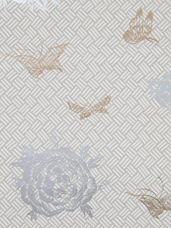 Flora Wallpaper in Gilded