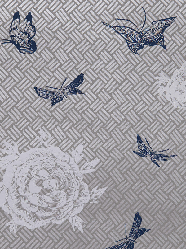 Flora Wallpaper in Silver