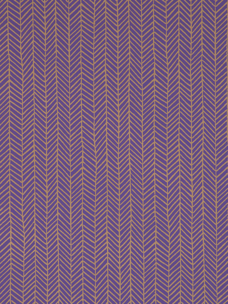 Herringbone Wallpaper in Amethyst