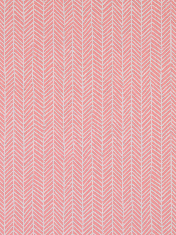 Herringbone Wallpaper in Coral Pink