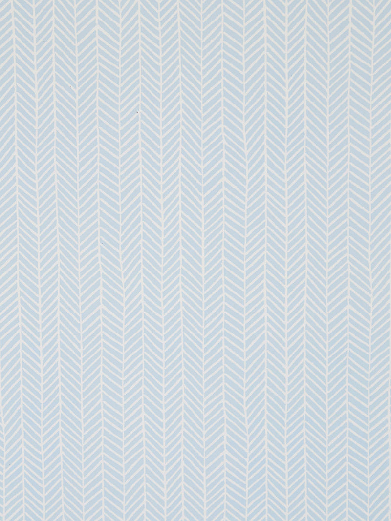 Herringbone Wallpaper in Iceberg