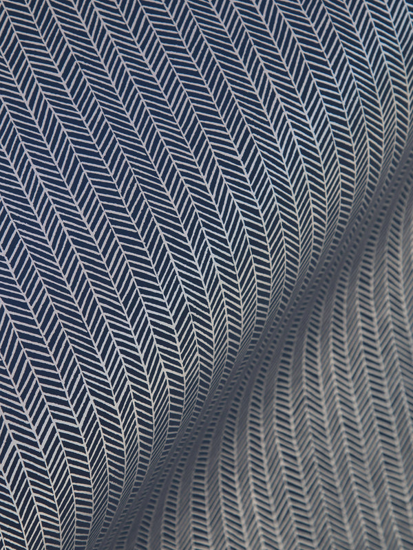 Herringbone Wallpaper in Navy