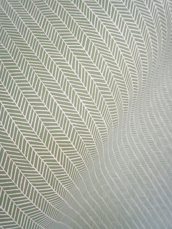 Herringbone Wallpaper in Sage