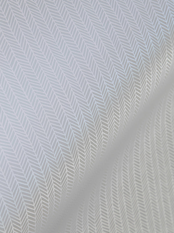 Herringbone Wallpaper in Silver