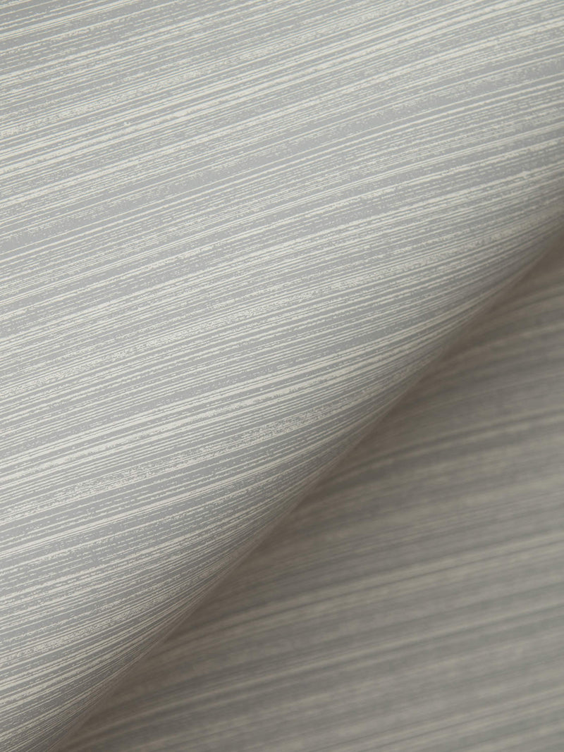 Painted Strie Wallpaper in French Grey