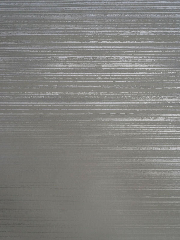 Painted Strie Wallpaper in Silver