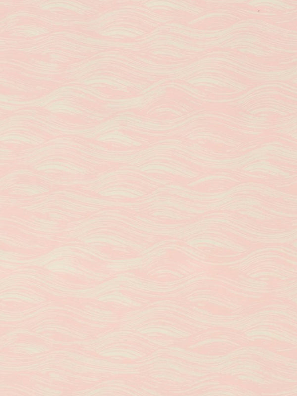 Painted Wave Wallpaper in Blush