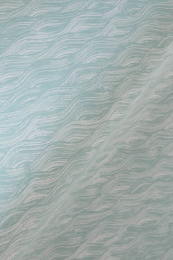 Painted Wave Wallpaper in Celadon
