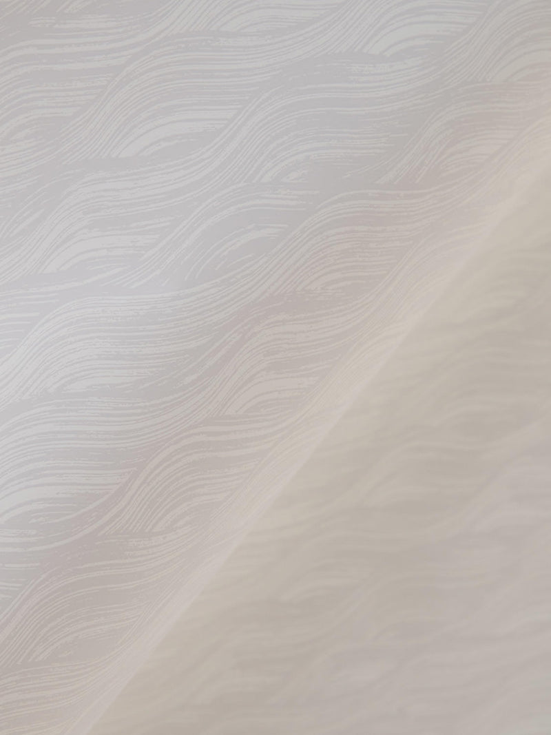 Painted Wave Wallpaper in Dune