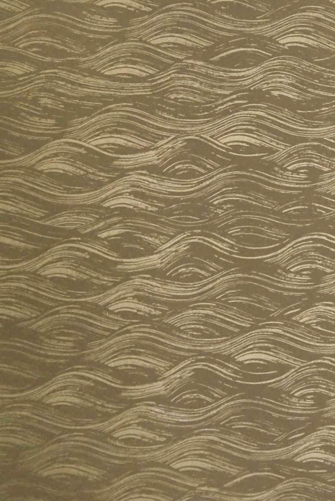 Painted Wave Wallpaper in Gold