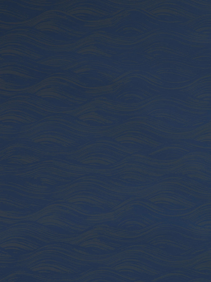 Painted Wave Wallpaper in Navy