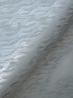 Painted Wave Wallpaper in Silver