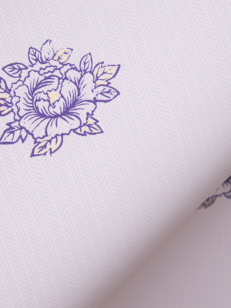 Peonies Wallpaper in Lilac