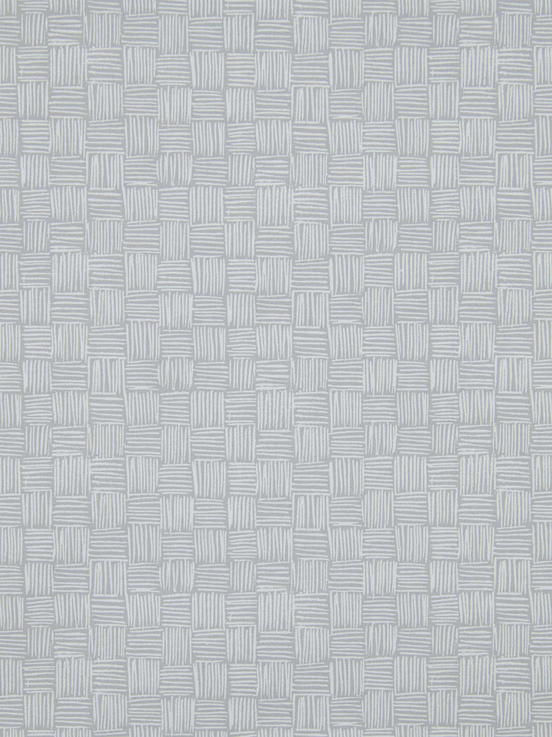 Woven Wallpaper in French Grey