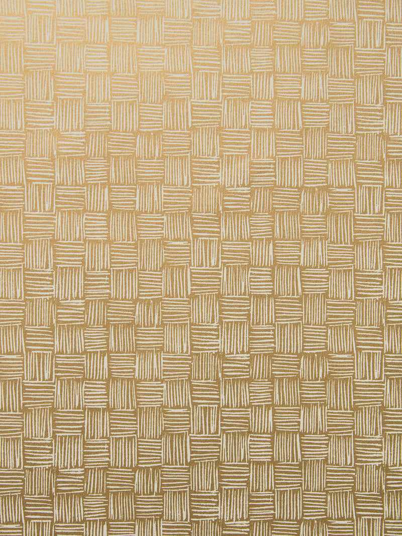 Woven Wallpaper in Gold