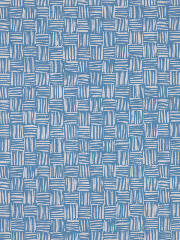 Woven Wallpaper in Lake