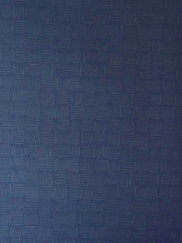 Woven Wallpaper in Navy
