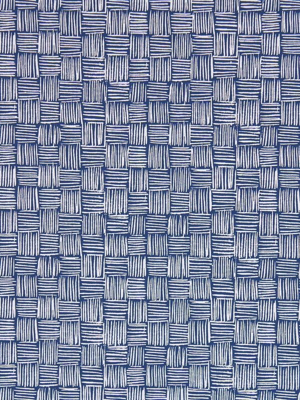 Woven Wallpaper in Sailor