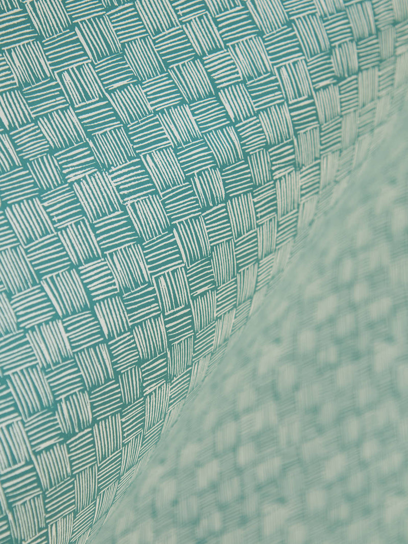 Woven Wallpaper in Viridian