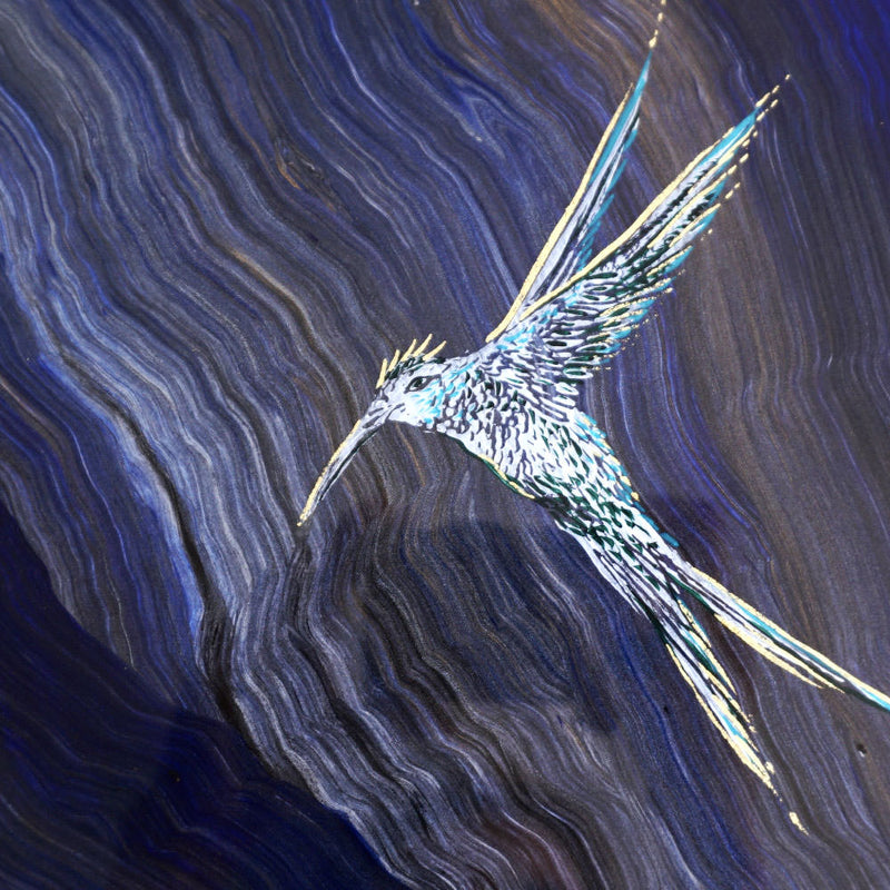 Mythical Hummingbird in Galaxy