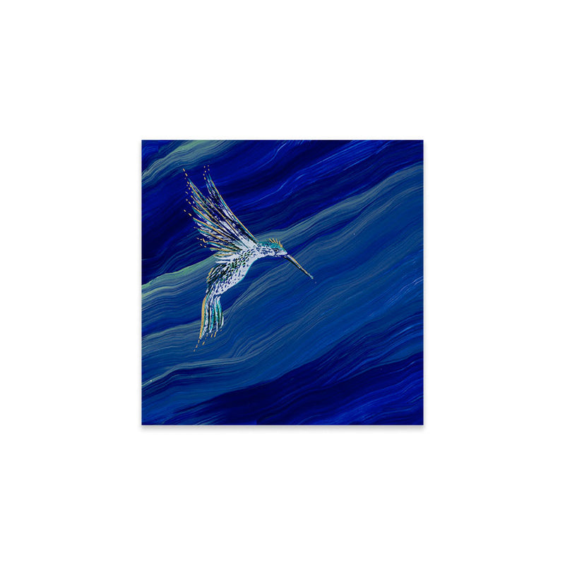 Mythical Hummingbird in Lapis