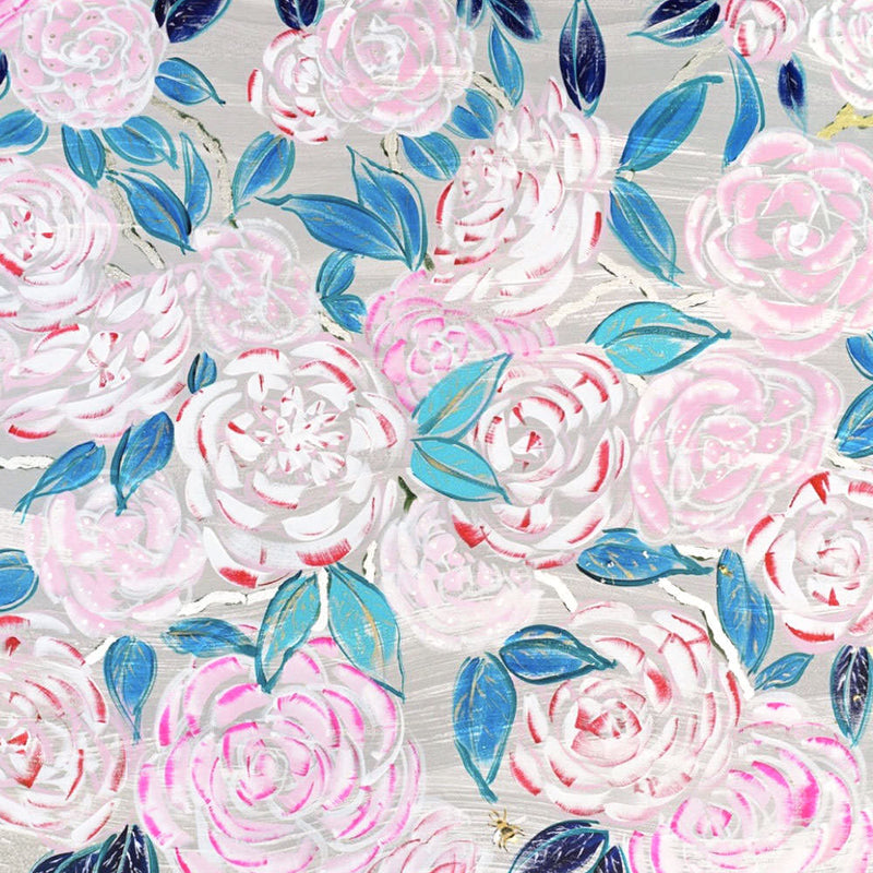 Peppermint Camellias Print