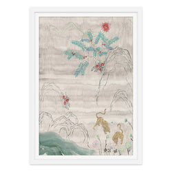 Tigers and Wildflowers Print