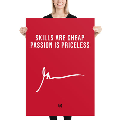 Poster quote Gary Vaynerchuk PASSION IS PRICELESS - Jetmindset