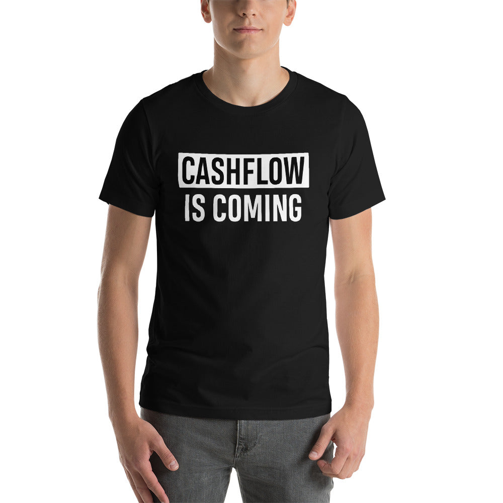 T-shirt CASHFLOW IS COMING pour investisseur