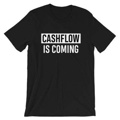 T-shirt CASHFLOW IS COMING noir