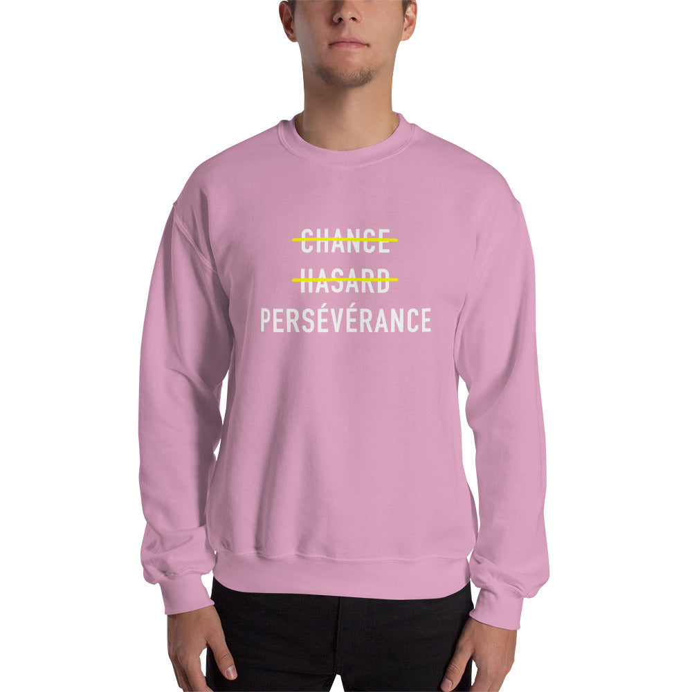 Sweat-shirt persévérance rose Jetmindset