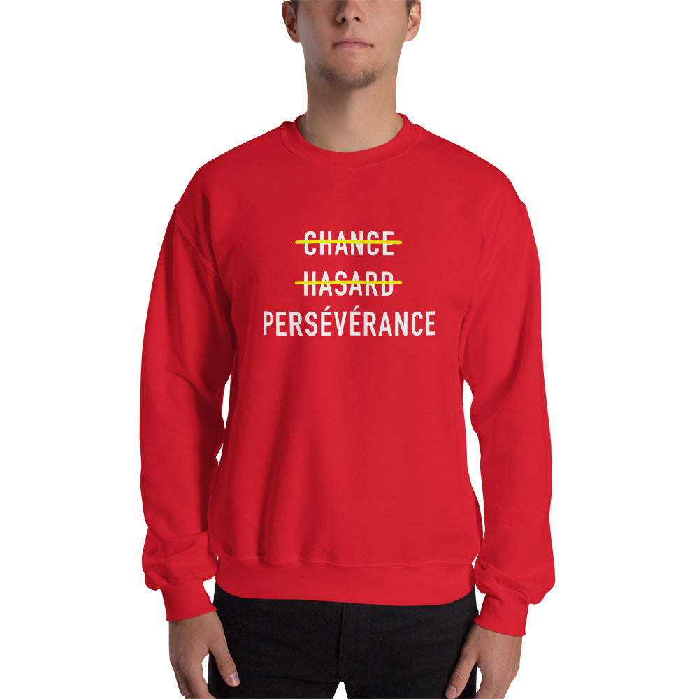 Sweat-shirt persévérance rouge Jetmindset