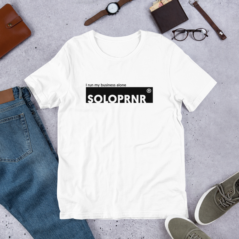 T-shirt SOLOPRNR blanc pour freelancer