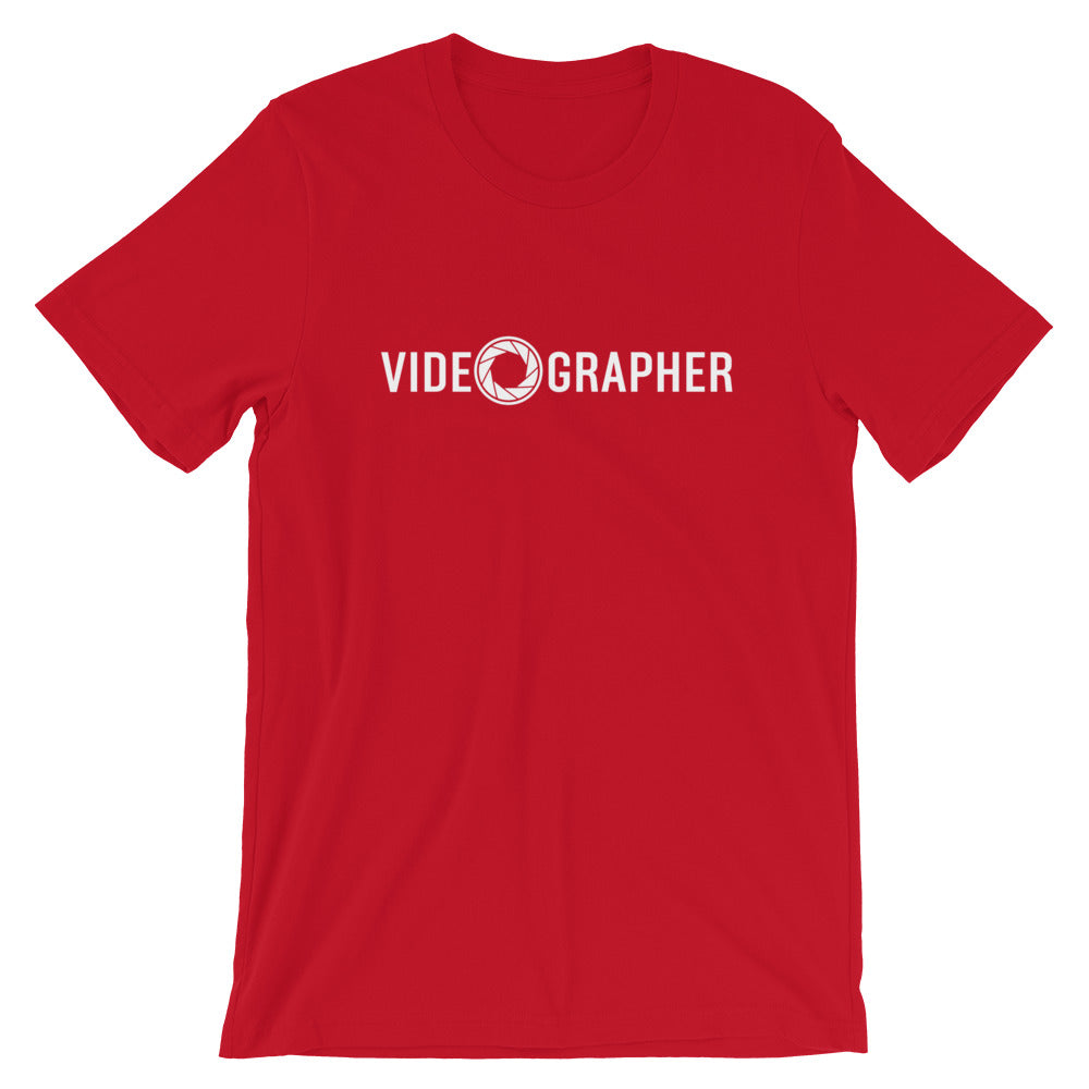 T-shirt VIDEOGRAPHER rouge