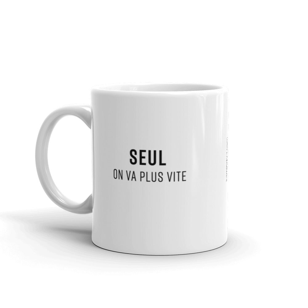 Mug entrepreneur SEUL ON VA PLUS VITE - ENSEMBLE ON VA PLUS LOIN