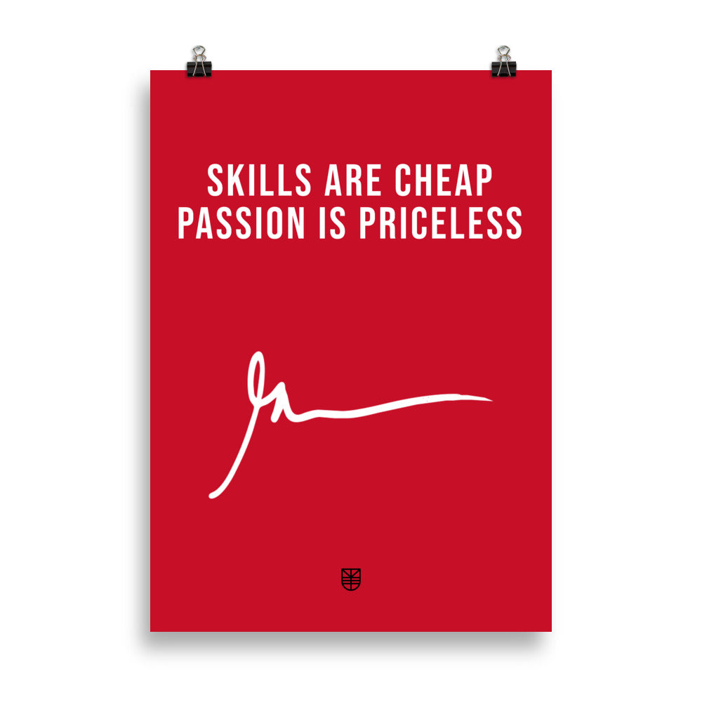 Poster PASSION IS PRICELESS. Gary Vaynerchuk