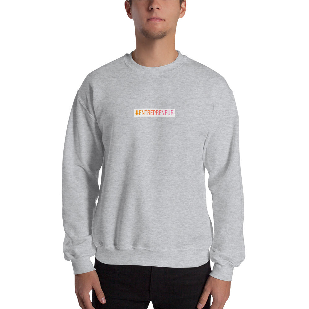 Sweat-shirt hashtag Entrepreneur small gris clair Jetmindset