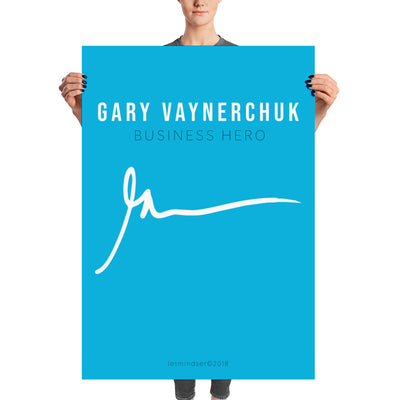 Poster Gary Vaynerchuk Business Hero blue edition