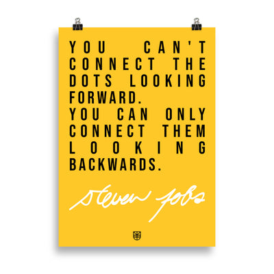 Poster Connect the dots by Steve Jobs - Jetmindset