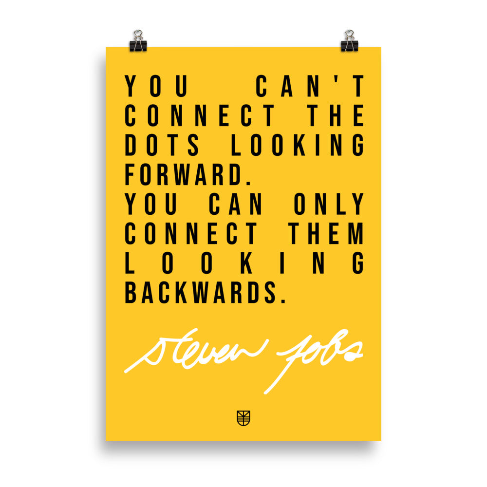 Poster citation Steve Jobs Connect the dots