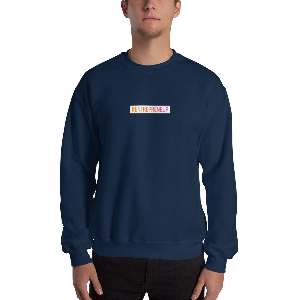 Sweat-shirt hashtag Entrepreneur small bleu Jetmindset