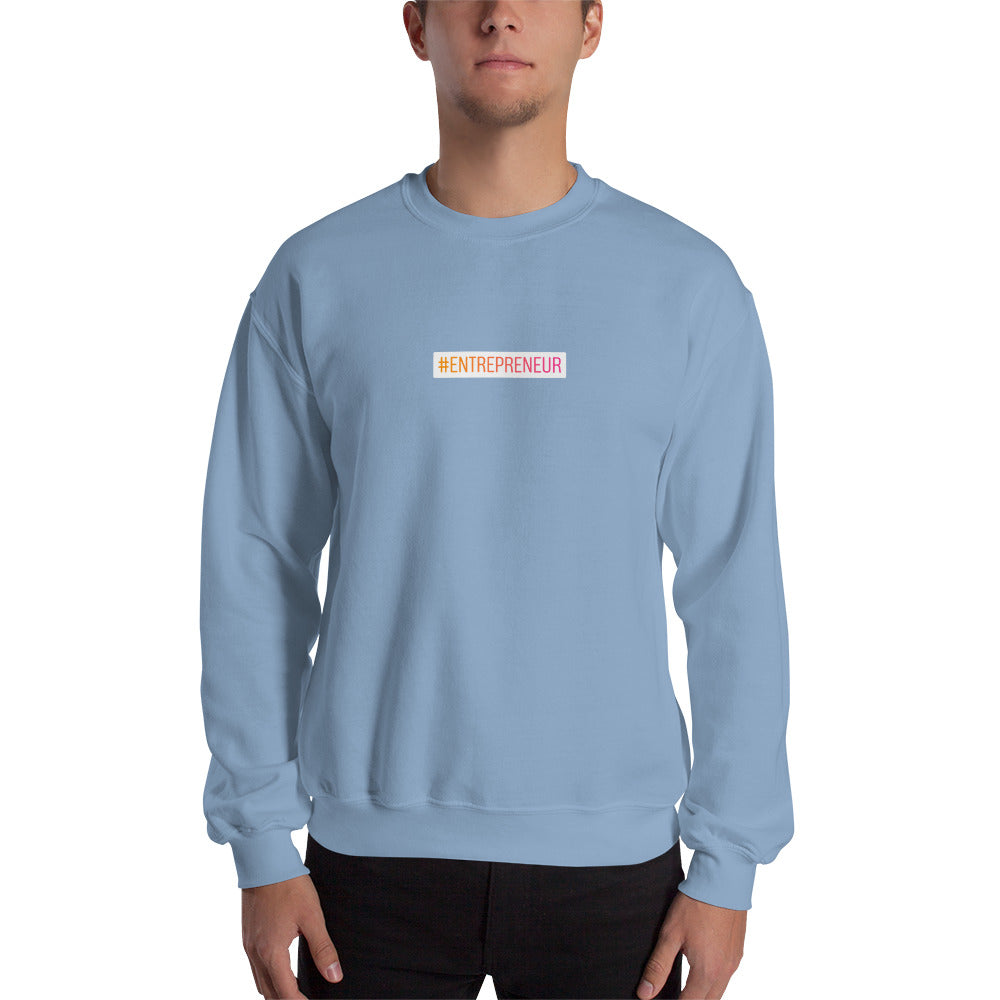 Sweat-shirt hashtag Entrepreneur small bleu ciel Jetmindset