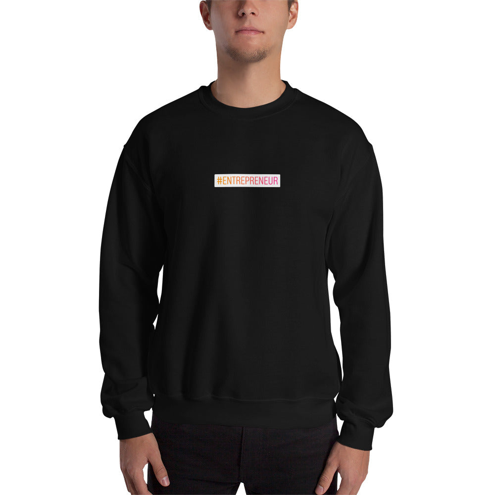 Sweat-shirt #Entrepreneur small noir Jetmindset