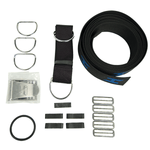 HALCYON ARNÉS WEBBING KIT + HARDWARE. Secure Harness Webbing Kit, includes Stainless Steel Hardware - Blue. DIVE LINE STORE