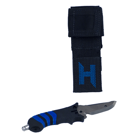 "HALCYON CUCHILLO ""H"". Titanium Mini-Knife with ""H"" Sheath. Dive Line Store"