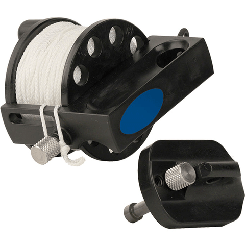HALCYON DEFENDER PRO 200. Defender Pro 200' (60 m) Reel w/Handle, #24 Line, Easy Grip SS Double End Clip. Dive Line Store