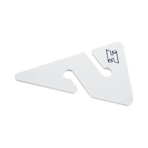 HALCYON FLECHA DE LINEA. Line Arrows, white w/ blue H logo, ( set of 12 ). Dive Line Store