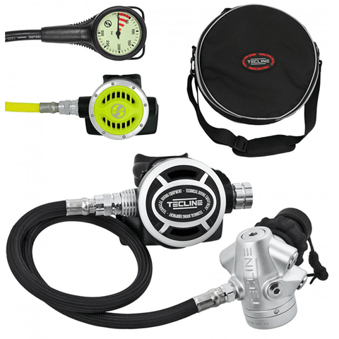 TECLINE REGULADOR V2 ICE MONO SET I (REG + OCTO + SPG). DIVE LINE STORE