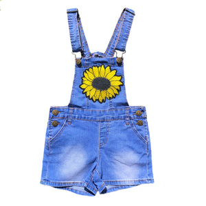 Open image in slideshow, Sunflower Denim Overalls