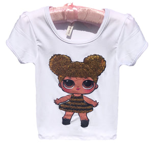 Open image in slideshow, Gold Sequin Doll Top
